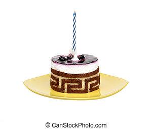 torta, piastra, candela