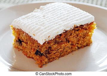 torta, piastra, carota