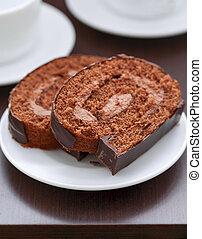 torta, piastra, cioccolato