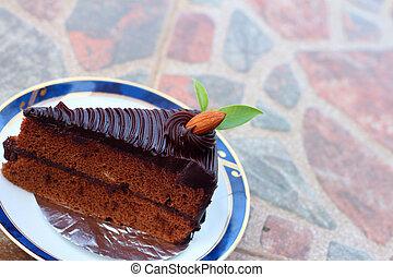 torta, piastra., cioccolato