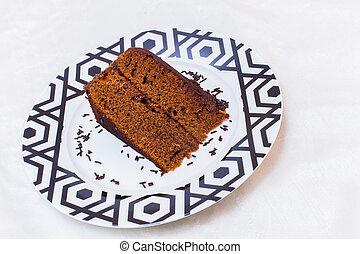 torta, piastra, sacher