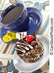 torta, primavera, forte, tè