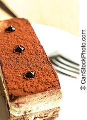 torta, triplo, mousse, cioccolato