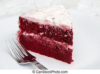 torta, velluto, rosso