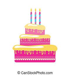 torte - blank - a birthday cake