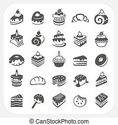 torte, e, dessert, set