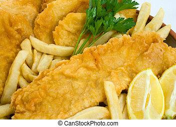 torte, fish, patatine fritte, patata