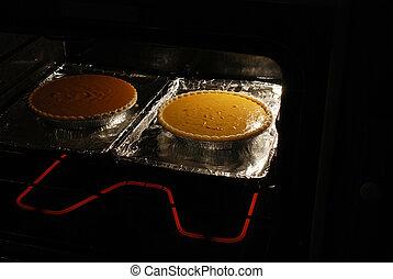 torte, forno, zucca