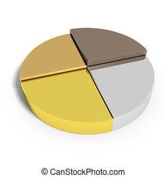 torte, gold, tabelle, bronze, silber