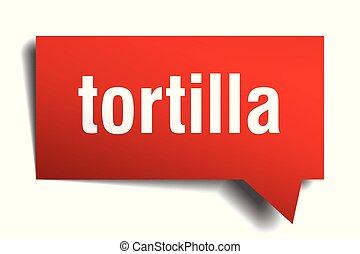 tortilla, červeň, 3, řeč bublat