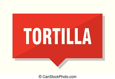 tortilla, červené šaty opatřit poutkem