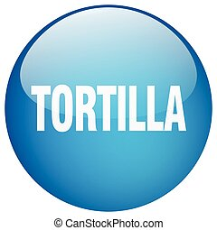 tortilla blue round gel isolated push button
