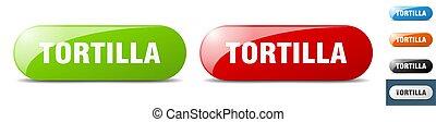 tortilla button. key. sign. push button set