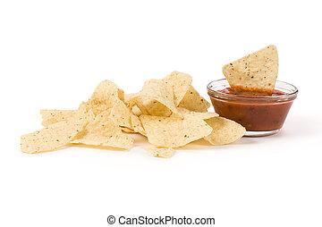 Tortilla Chip close up shot
