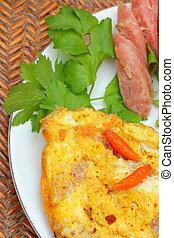 tortilla de huevos, asia