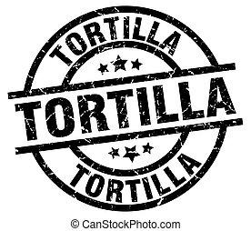 tortilla, kolem, grunge, čerň, dupnutí
