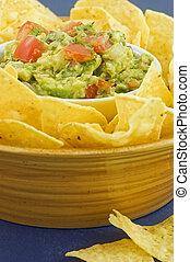 tortilla scheggia, guacamole