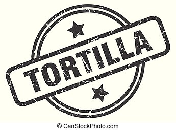 tortilla stamp isolated on white