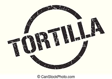 tortilla stamp - tortilla black round stamp