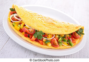 tortilla, vegetales