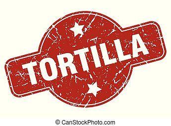 tortilla vintage stamp. tortilla sign