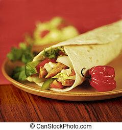 Tortilla Wrap   - Chicken and vegetable tortilla wrap