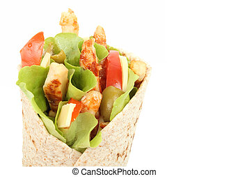 Tortilla wrap isolated over white background