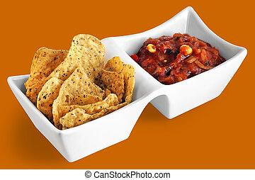 Tortillas and salsa