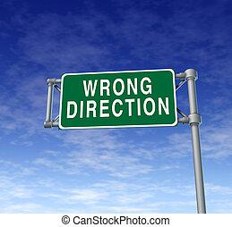 torto, segnale direzione
