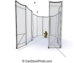 tortoise competing in hammer throw