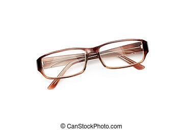 Tortoise Eyeglasses on White Background