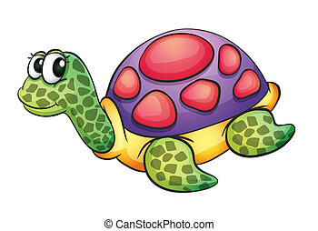tortoise - illustration of a tortise in a white background