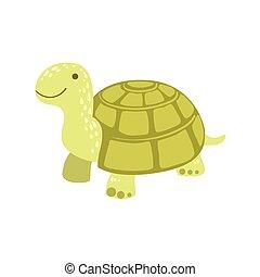 Tortoise Stylized Childish Drawing
