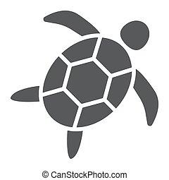 tortue, aquatique, 10., animal, sous-marin, solide, modèle, eps, signe, icône, vecteur, mer, graphiques, fond blanc, glyph