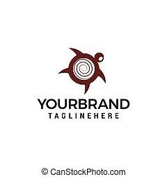 tortue, concept, vecteur, conception, gabarit, logo