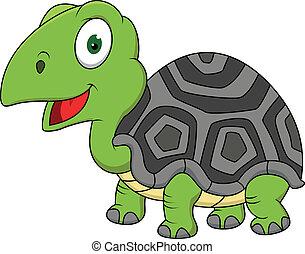 tortue, dessin animé