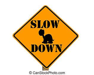 tortue, lent, silhouette, signe