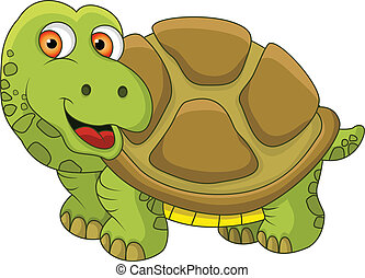 Clipart vecteur de tortue rigolote coquille hou dessin - Image tortue rigolote ...