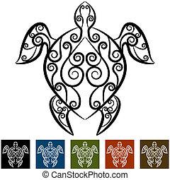 tortue, tourbillon, tatouage