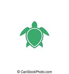 tortuga, aislado, ilustración, plantilla, icono, diseño, ...