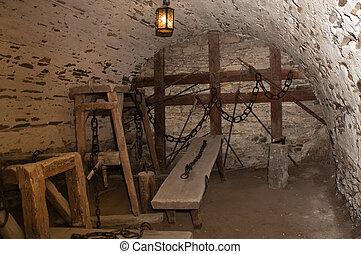 torture room - torture underground prison room, photo taken...