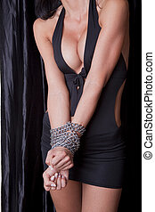 Torture Sexy Woman Hands In Chains - Woman Hands In Chains