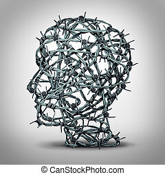Tortured Thinking - Tortured thinking and depression concept...