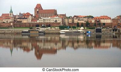 Torun old town panorama