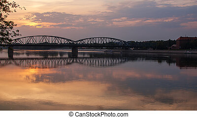 torun, pilsudski, γέφυρα , πολωνία