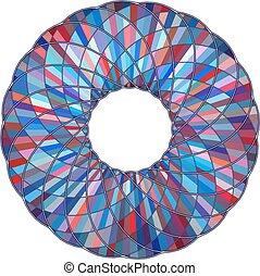 torus, géométrique, patt..., coloré