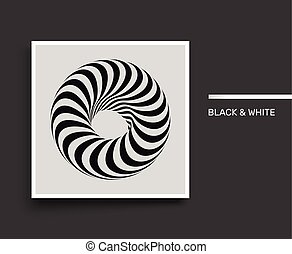 Torus. Infinity sign. Black and white. Textbook, booklet or notebook mockup.