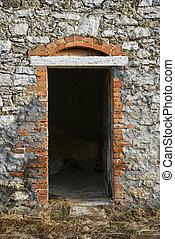 toscana, costruzione, pietra, italy.