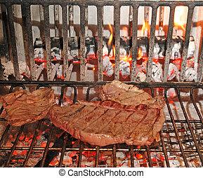 toscana, rindfleisch, gekocht, agritourism, selten, steak, ...