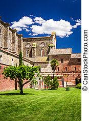toscana, ruinas, iglesia vieja